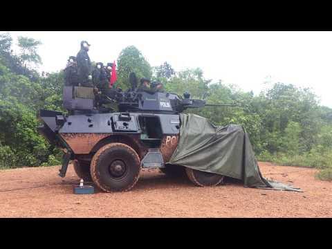 Latihan Tembak Commando  V150 PDRM 17/04/2017 hingga 20/4/2017