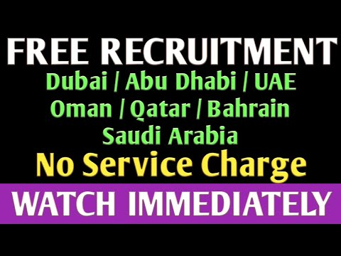 FREE RECRUITMENT JOBS IN GULF COUNTRIES.