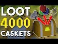 Loot from Opening 4000 Caskets! Results from 6 Weeks of Buying Caskets! [OSRS]