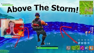 Fortnite (Battle Royale)- How To Glitch ABOVE THE STORM **WTF**