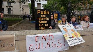видео В Киеве проходит акция с требованием освободить Сенцова и других украинских политзаключенных