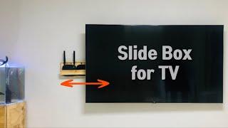 벽걸이 TV 셋톱박스 전선 등을 정리해주는 슬라이드 박…