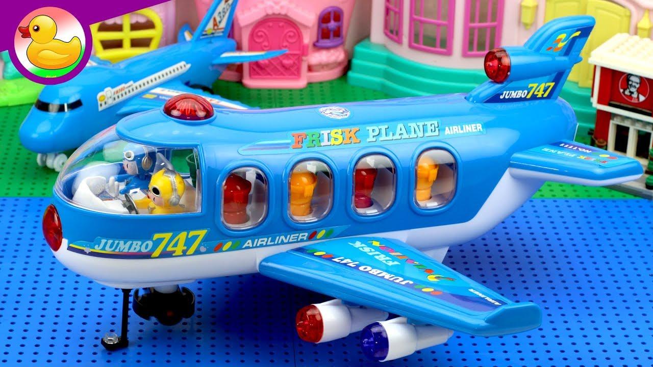 لعبه طائرة الركاب المضحكه العاب اطفال Youtube