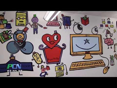 Mural at Bryantville Elementary School by Bren Bataclan
