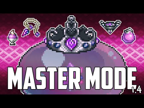 Terraria 1 4 Queen Slime All New Items Master Mode Youtube