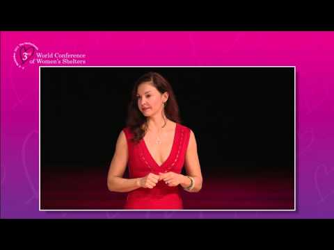 Ashley Judd speaking at 3rd World Conference of Women's Shelters