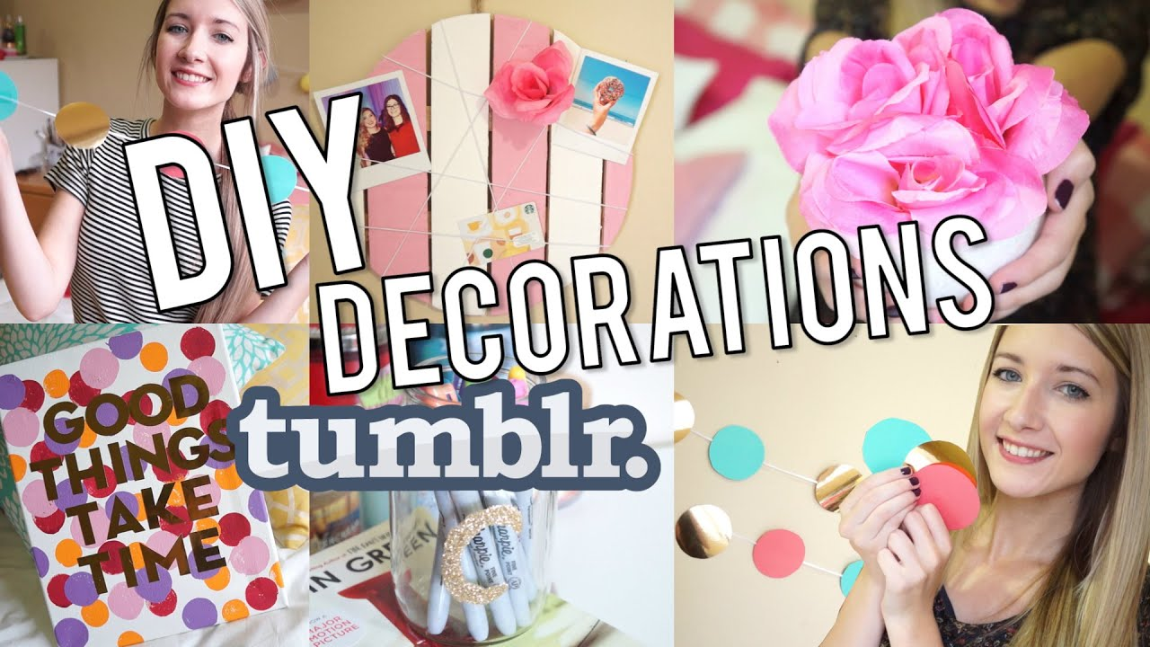 Diy d corations de chambre inspiration tumblr youtube - Comment decorer sa chambre d ado ...