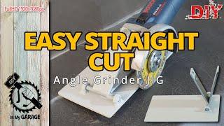 DIY | Angle Grinder Cutting Jig | Straight Cut Sheet Metal