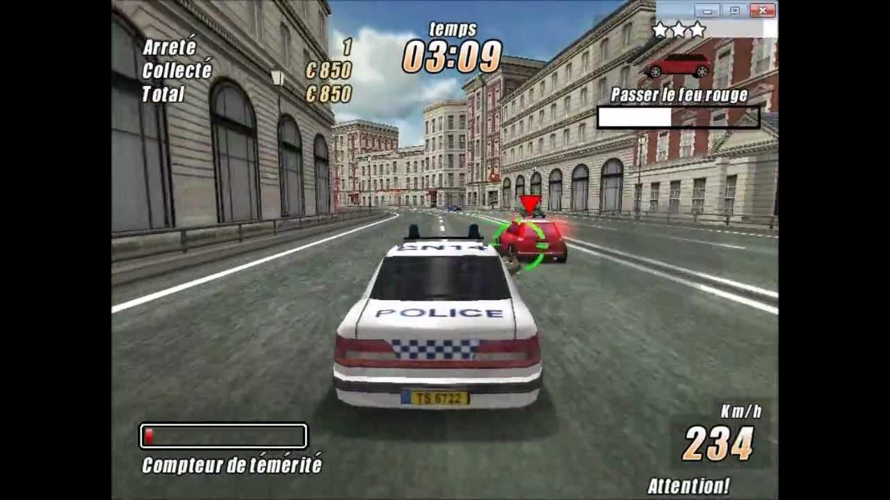 jeux de voiture vs police