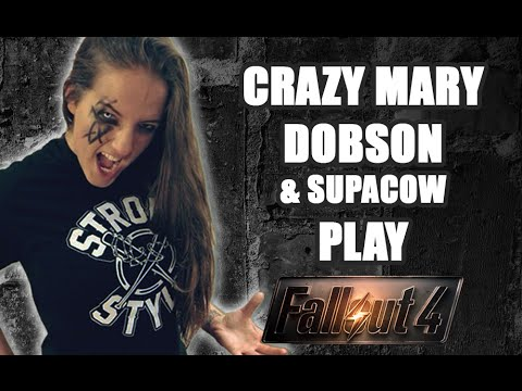 WWE's Sarah Logan fka Crazy Mary Dobson Plays Fallout 4 (1st 2 hours of gameplay)