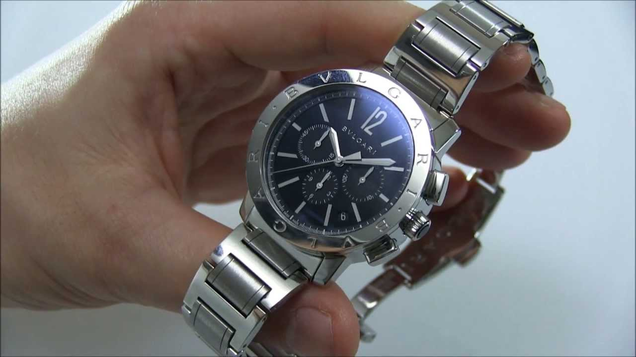 b11e6593236 Bulgari Bulgari Chrono Watch Review - YouTube