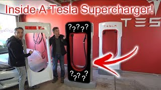 What's Inside A Tesla Supercharger?! Breaking it open