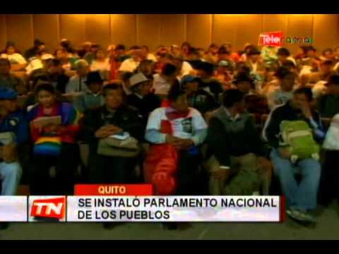 Se instaló parlamento nacional de los pueblos