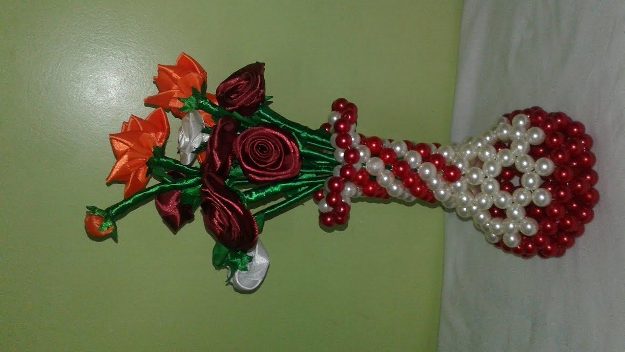 Download how to make beaded flower vase/পুতির ফুলদানী তৈরী/flowerpot