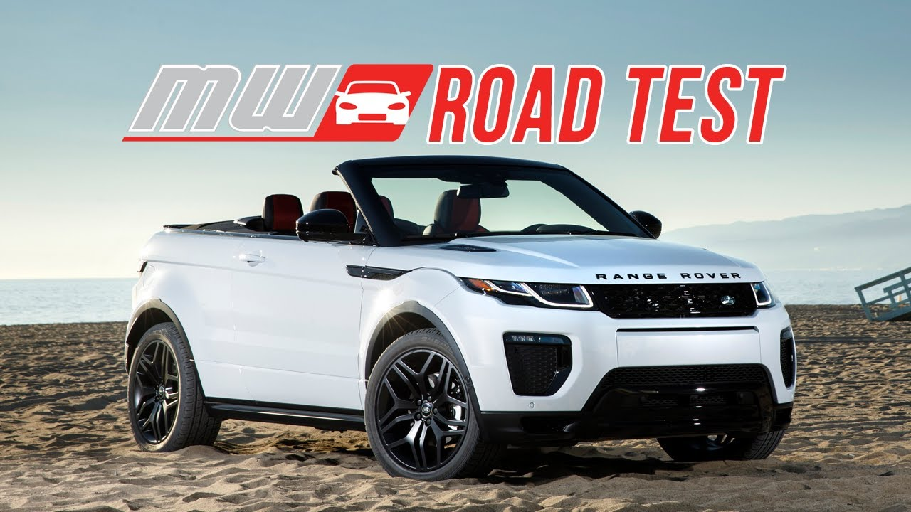 2017 range rover evoque convertible road test youtube. Black Bedroom Furniture Sets. Home Design Ideas