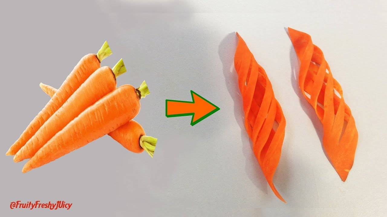 From Carrot To Beautiful Garnish – DIY of Carrot Rose Flower & Leaves Carving & Designs