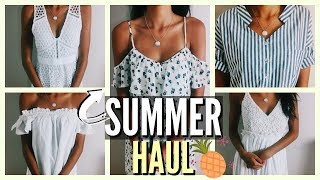 Summer Clothing Haul 2017 + How to Shop on a Budget || SheIn, Zara, Abercrombie