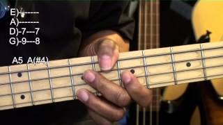 Easy Cool Bass Chords & Slap Guitar Tutorial Lesson EBMTL HD