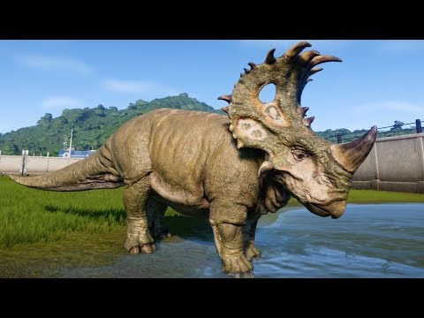 Jurassic World Evolution - Sinoceratops Gameplay (PS4 HD) [1080p60FPS]