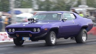 American Muscle Cars Drag Racing - Plymouth 'Cuda, Chevy Nova, Pontiac Firebird & More!