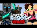 Minecraft | POPULARMMOS VS GAMING WITH JEN! | Pat And Jen FIGHT! | Minecraft Robot Wars