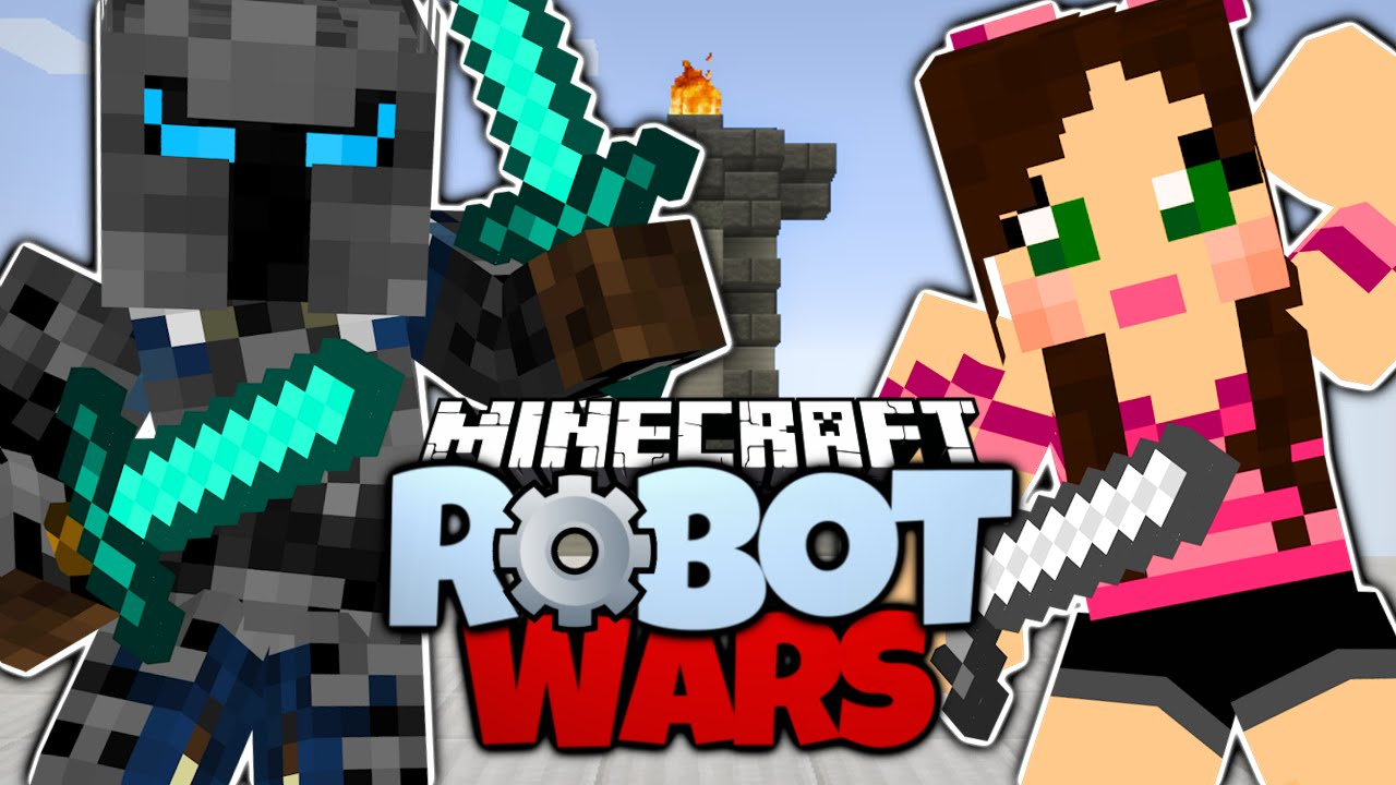 Minecraft popularmmos vs gaming with jen pat and jen fight