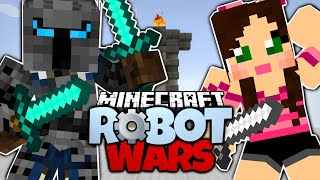 minecraft   popularmmos vs gaming with jen   pat and jen fight   minecraft robot wars