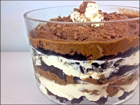 Chocolate Brownie Mousse Trifle - YouTube
