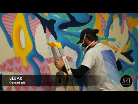 Graffiti à La Seine Musicale avec Bebar & Yakes