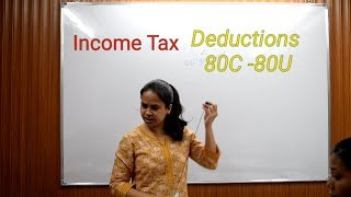 Deductions 80C-80U