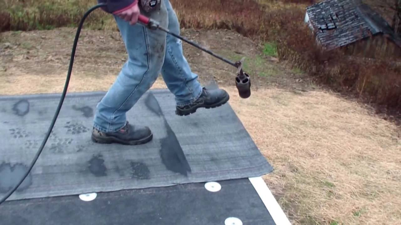 Modified Bitumen Roll Roofing Youtube