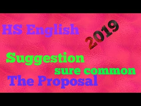 HS 2019 English suggestion :The proposal sure common thumbnail