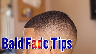 Mid Bald Fade With Waves