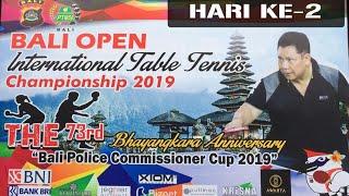 Pertandingan Hari Ke-2 Bali Open International Table Tennis Championship 2019