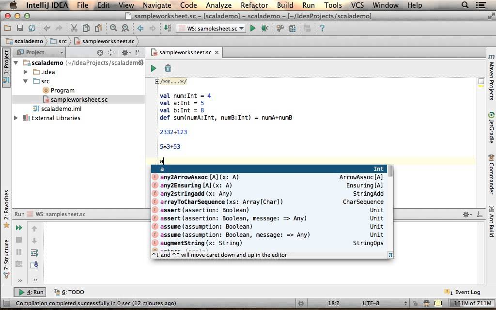 Creating Scala Worksheet Using IntelliJ YouTube – Scala Worksheet