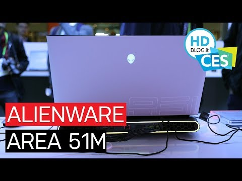 Anteprima Dell ALIENWARE AREA 51m, un notebook gaming con CPU DESKTOP | CES 2019