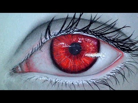 Realistic Vampire Eye  Drawing Time Lapse - YouTube