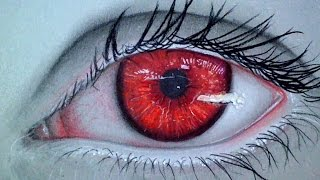 Realistic Vampire Eye : Drawing Time Lapse