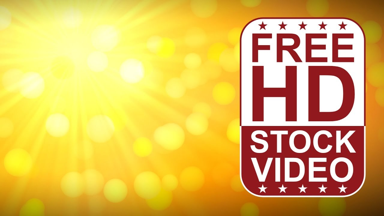 FREE HD video backgrounds  abstract animated yellow