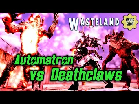Fallout 4 Wasteland Workshop - Automatron vs lots of Deathclaws