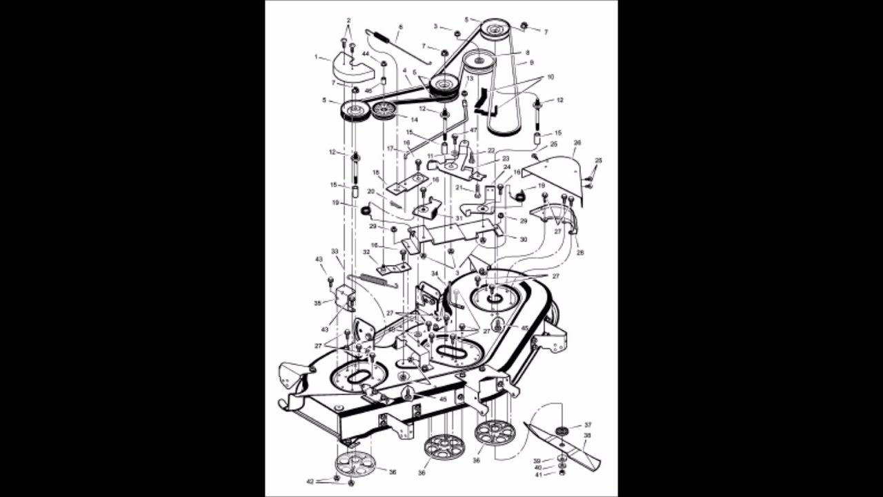 murray lawn mower deck belt arrangement [ 1280 x 720 Pixel ]