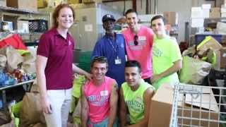 Molloy College breaks record collecting and giving food