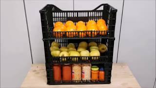 Como hacer estanterias recicladas para la despensa por 0 €