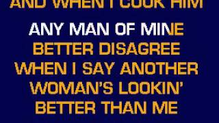 Shania Twain - Any man of mine karaoke
