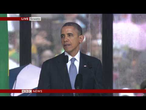 OBAMA'S EMOTIONAL TRIBUTE TO NELSON...