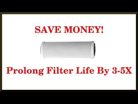 How To Extend The Life Of Cartridge Water Filters(PREFILTER)
