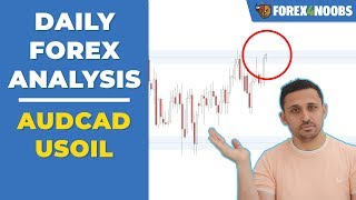 AUDCAD + USOIL Potentials + Active trades (Price Action Analysis 2019-04-11)