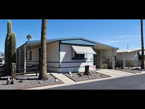 Ws221aj 1982 2br/2ba 14' X 60' Fully Furnished Affordable Site Fee White Sands Apache Junction Az