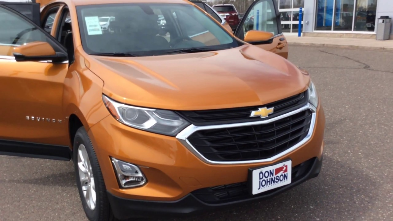 2018 chevrolet equinox awd lt orange burst h18002 youtube for Don johnson hayward motors