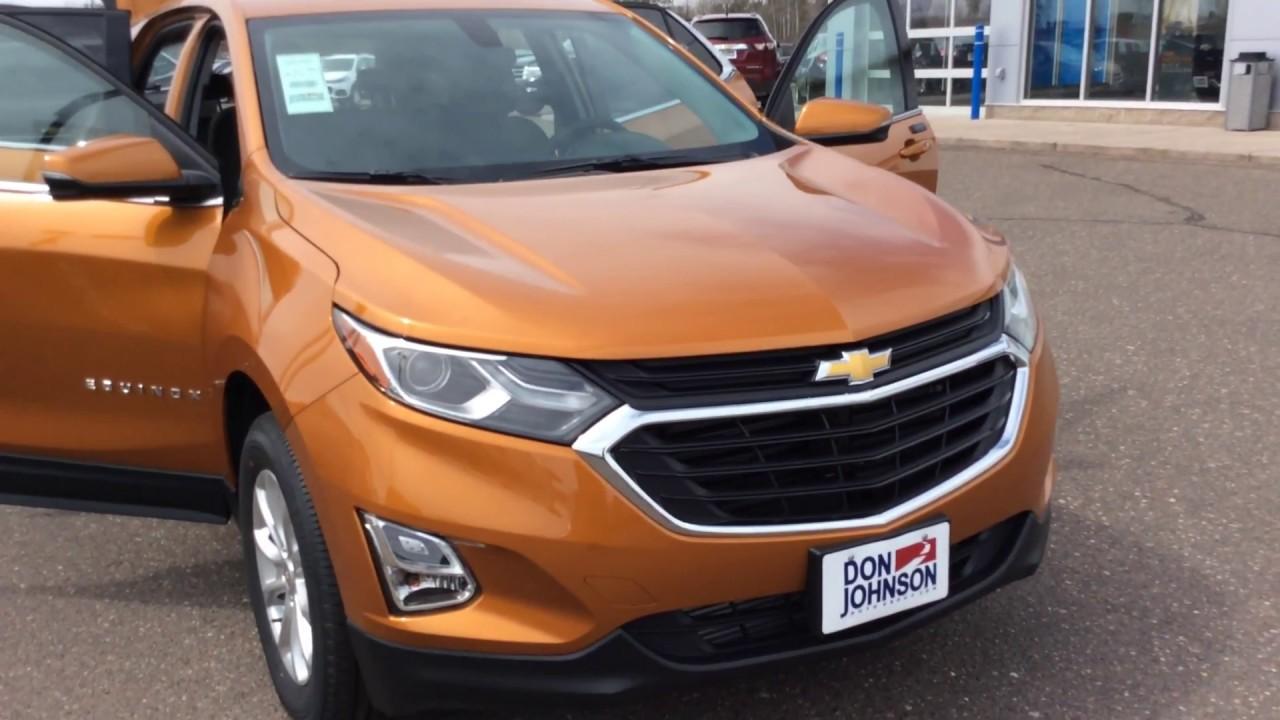 2018 Chevrolet Equinox Awd Lt Orange Burst H18002 Youtube
